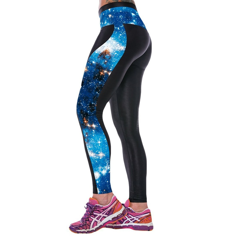 fb34be07432b7e Shop New Women's Galaxy Print Gym Running Yoga Pants High Rise Stretch  Leggings Sweatpants Trousers - Free Shipping On Orders Over $45 - Overstock  - ...