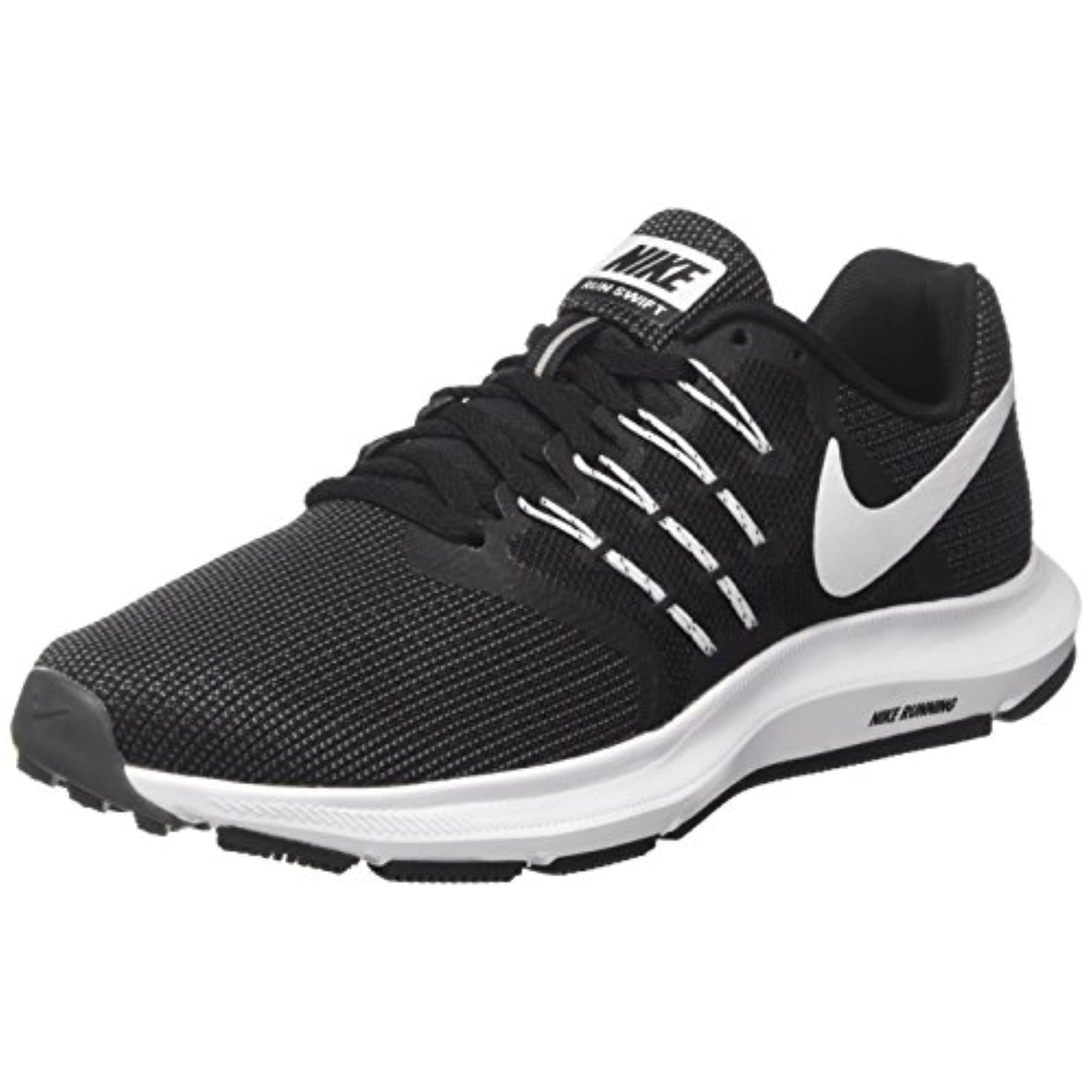 32ed10d568e Shop Nike Women s Run Swift Black White Dark Grey Running Shoes (8.5) -  Free Shipping Today - Overstock - 27359881