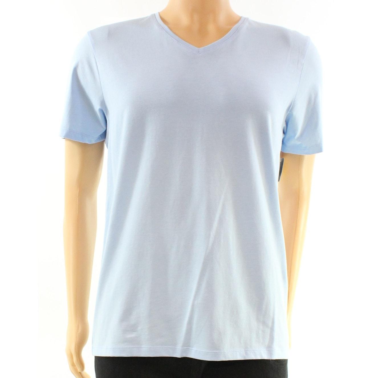 a3953681dcc1 ... Shop INC NEW Light Blue Clear Sky Mens Size Large L V Neck Knit Tee