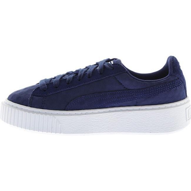 58c559fe2 Shop PUMA Women's Basket Platform DE Sneaker Blue Depths/Blue Depths - Free  Shipping Today - Overstock - 17366838