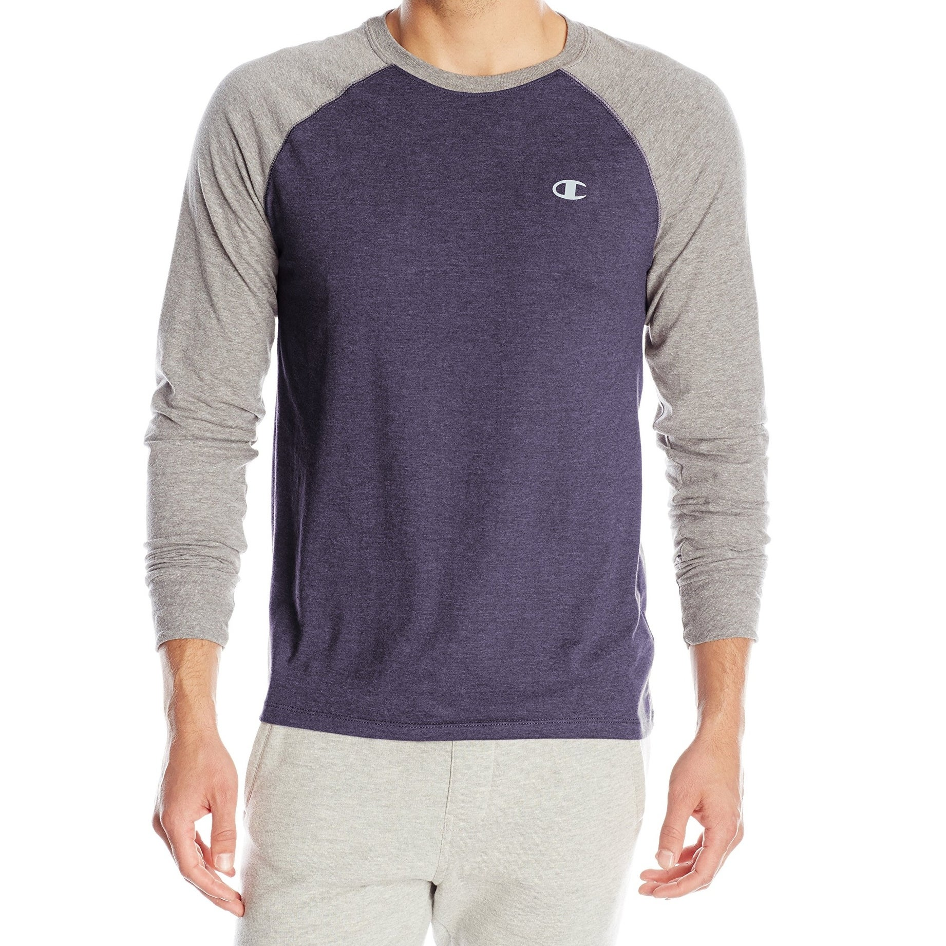 301f0d61597e Shop Champion NEW Blue Mens Medium M Colorblock Crewneck Long-Sleeve ...