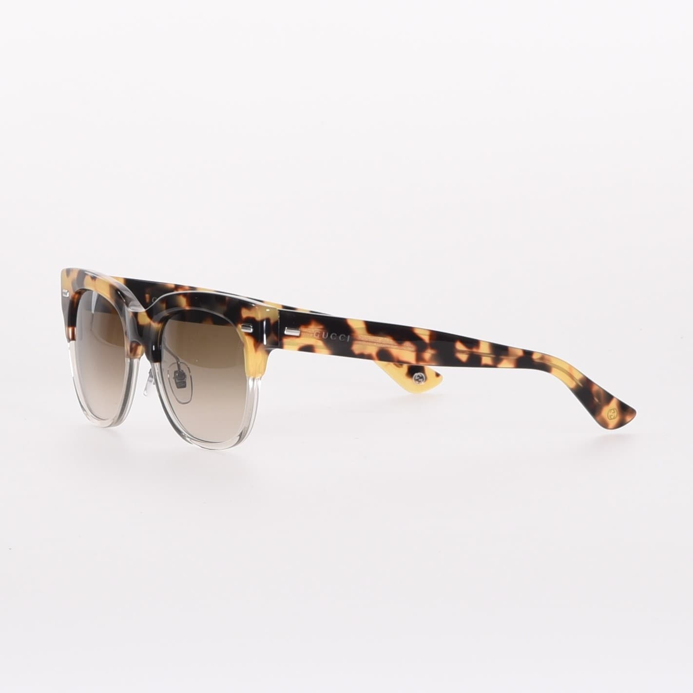 0731c34ef24f Shop Gucci GG3744 Wayfer Sunglasses in Browm and Gold Havana - One size - Free  Shipping Today - Overstock.com - 17952746