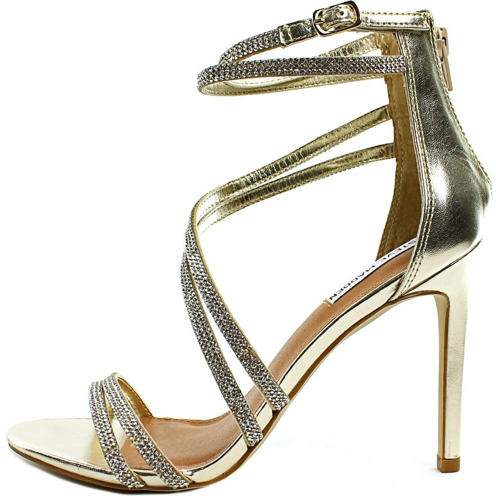 72071a07d0be Shop Steve Madden Fiffi Women Open-Toe Synthetic Silver Heels - Free  Shipping Today - Overstock - 17011516