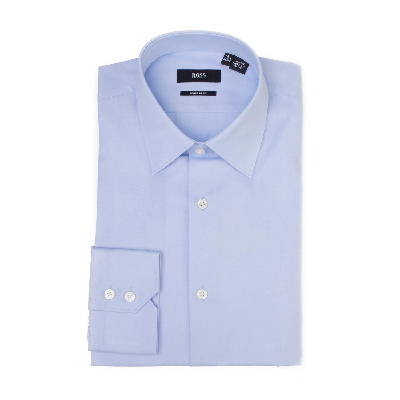 c69f3b547d9 Shop Hugo Boss Men s Cotton Regular Fit Dress Shirt Light Blue - Free  Shipping Today -