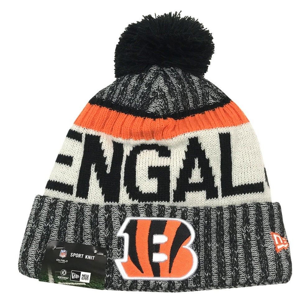 1266bc0ee Shop New Era Cinncinnati Bengals Knit Beanie Cap Hat NFL On Field Sideline  11460403 - Free Shipping On Orders Over  45 - Overstock.com - 17743864