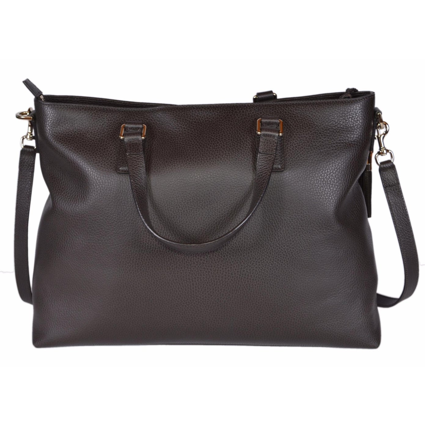 aeb20f35260 Shop Gucci 365345 Large Brown Leather Bamboo Tassel Crossbody Handbag Purse  - 18