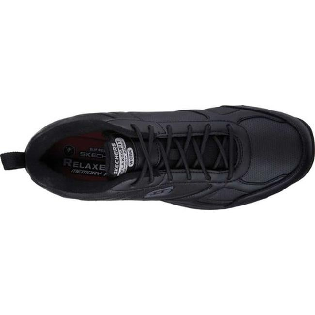 13c54dcda63 Shop Skechers Men s Work Relaxed Fit Dighton Slip Resistant Sneaker Black -  On Sale - Free Shipping Today - Overstock - 14165721