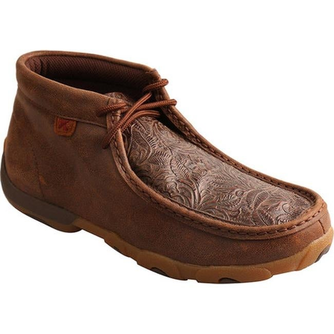 f3426926214 Twisted X Boots Women's Driving Moc Chukka Boot Brown/Brown Print Leather