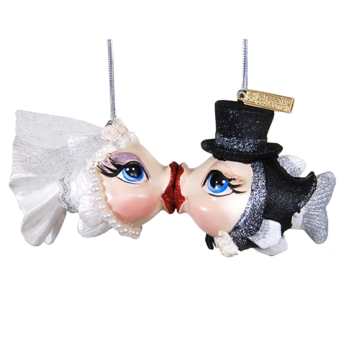 Shop Getting Hooked Bride and Groom Kissing Fish Christmas Holiday ...