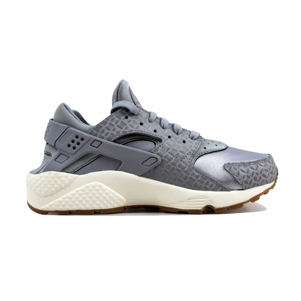 c3689c3d97f2 Shop Nike Women s Air Huarache Run Premium Wolf Grey Wolf Grey-Sail  683818-012 - Free Shipping Today - Overstock - 21893245