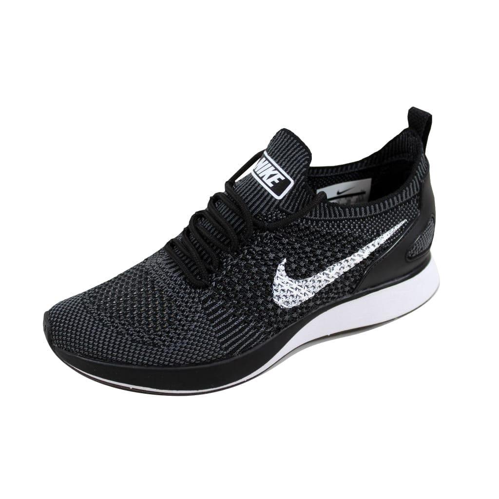 2a3b8c3ec6f42 Nike Women s Air Zoom Mariah Flyknit Racer Premium Black White-Dark Grey  917658-002