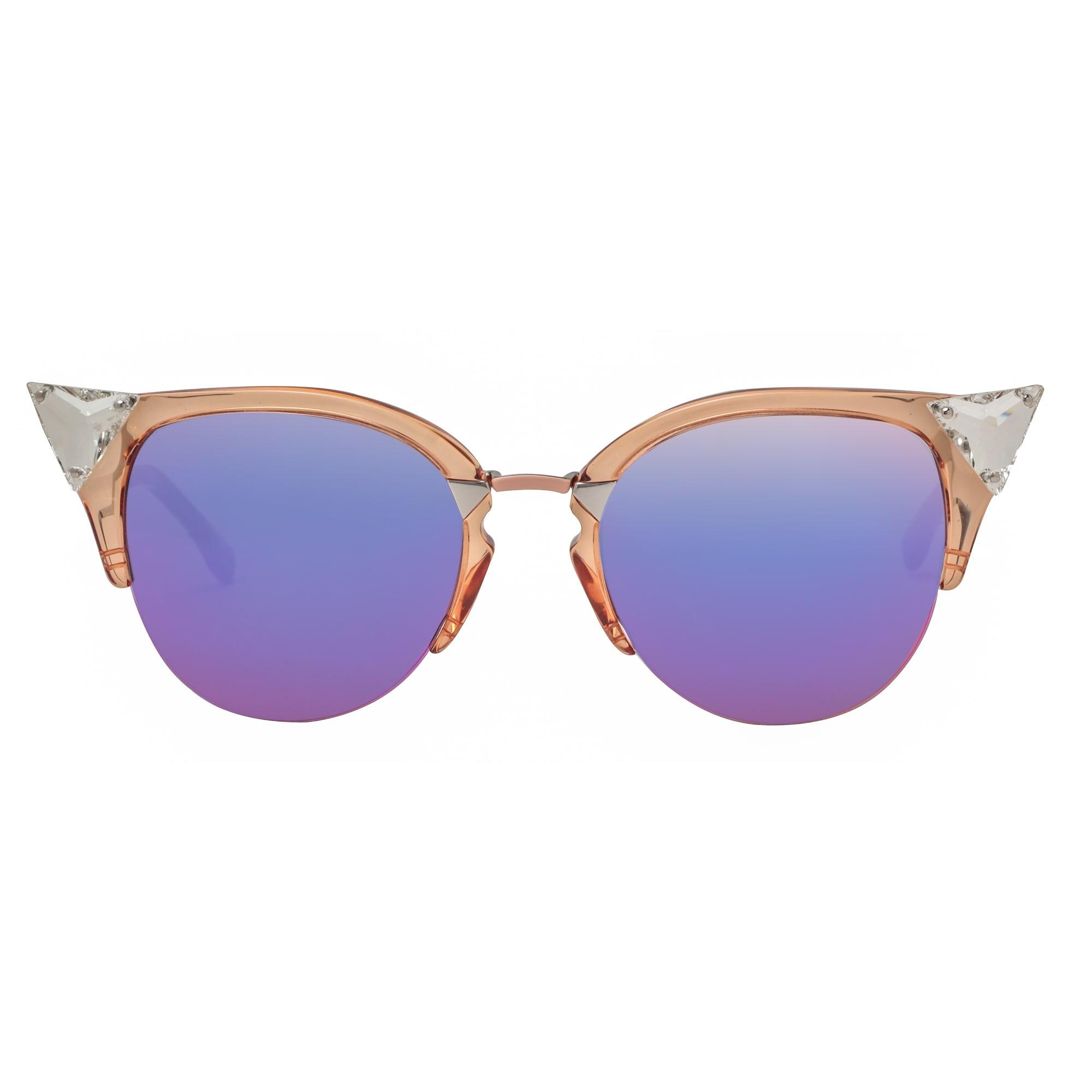 d2320bae82f3 Shop Fendi FF 0041 S 9F6 VQ Iridia Transparent Peach Women s Cat Eye  Sunglasses - transparent peach - 52mm-20mm-135mm - Free Shipping Today -  Overstock - ...