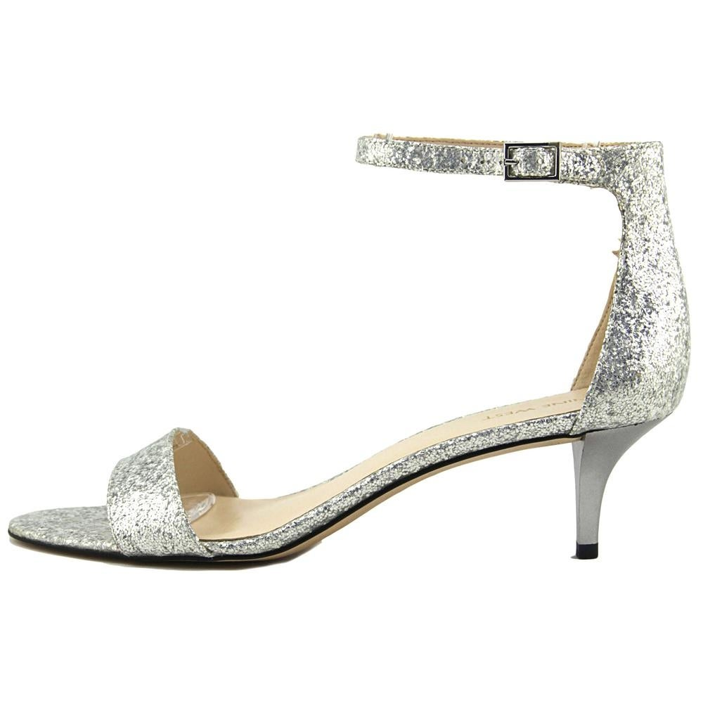 d7673a4f845 Shop Nine West Leisa Women Open-Toe Synthetic Silver Slingback Heel - Free  Shipping On Orders Over  45 - Overstock - 19446599