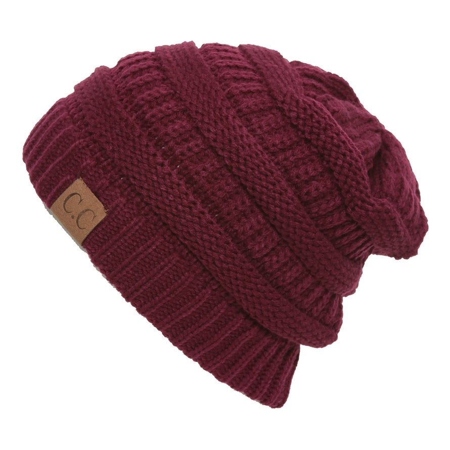 Shop C.C Women s Thick Soft Knit Beanie Cap Hat - Free Shipping On Orders  Over  45 - Overstock - 16948160 cecb766abda