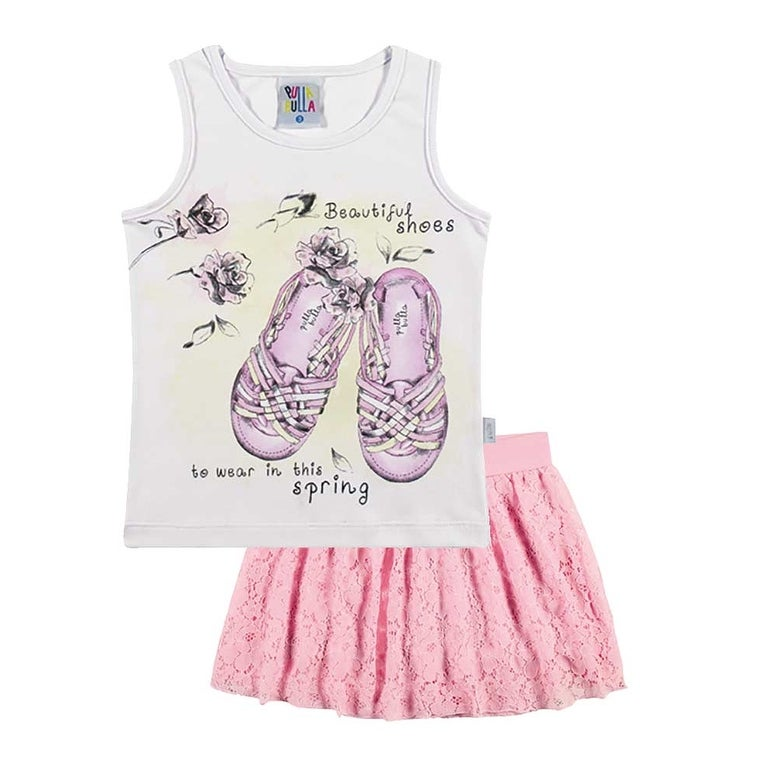 48fa014f3 Shop Toddler Girl Outfit Graphic Tank Top and Skort Set Pulla Bulla ...