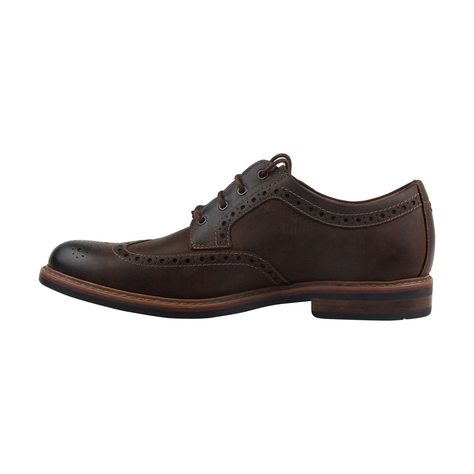 525c45636f0f5 Clarks Armon Wing Mens Brown Leather Casual Dress Lace Up Oxfords Shoes