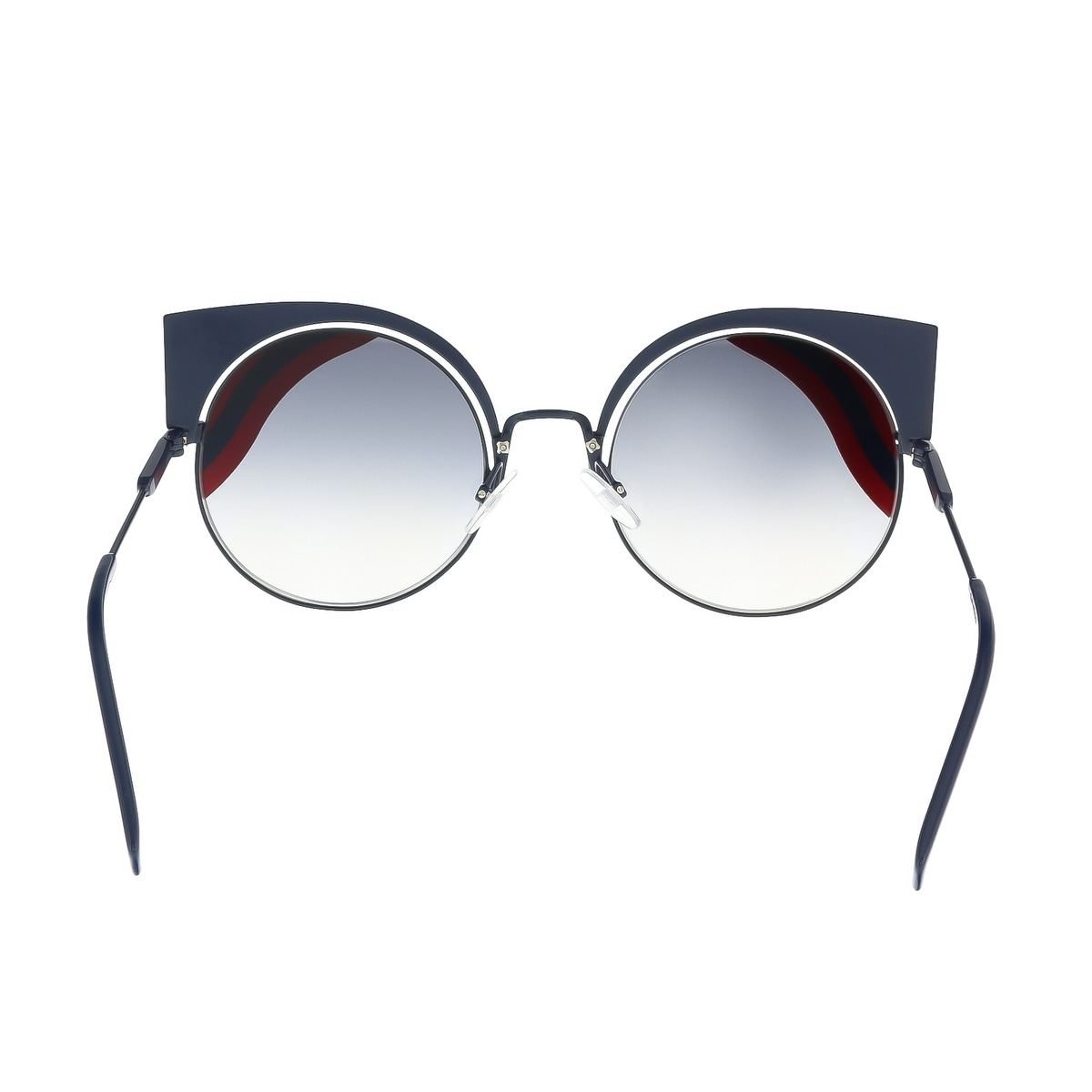 65eb2ef164a4 Shop Fendi FF 0215 S 00M1 Hypnoshine Dark Blue Red Cat Eye Sunglasses -  Free Shipping Today - Overstock - 16790930