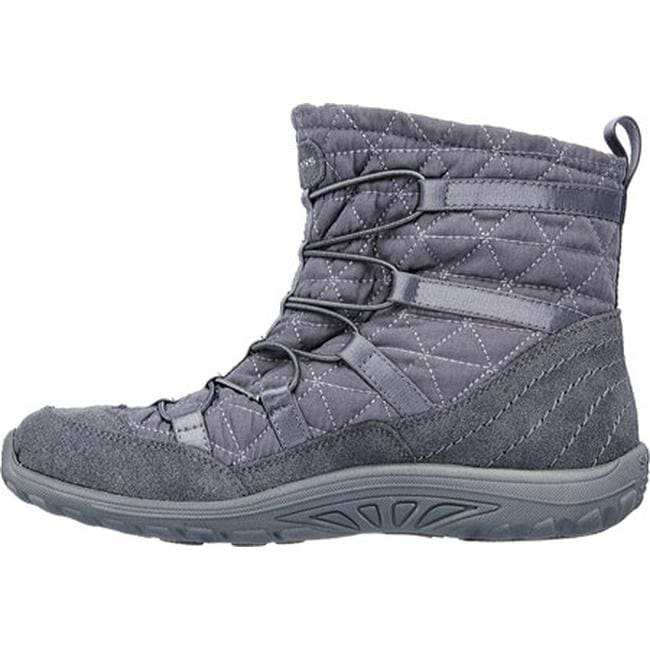 7d0e927604a60 Shop Skechers Women's Relaxed Fit Reggae Fest Steady Ankle Boot Charcoal -  Free Shipping On Orders Over $45 - Overstock - 12690325