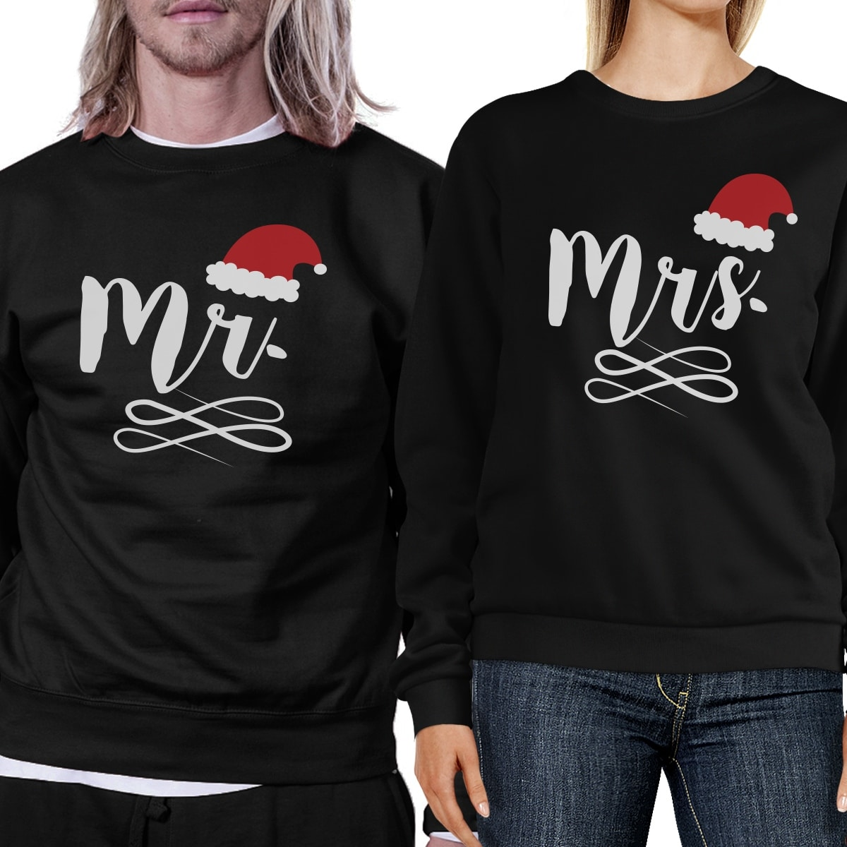 Shop Mr And Mrs Christmas Couple Sweatshirts Holiday Gifts For ...