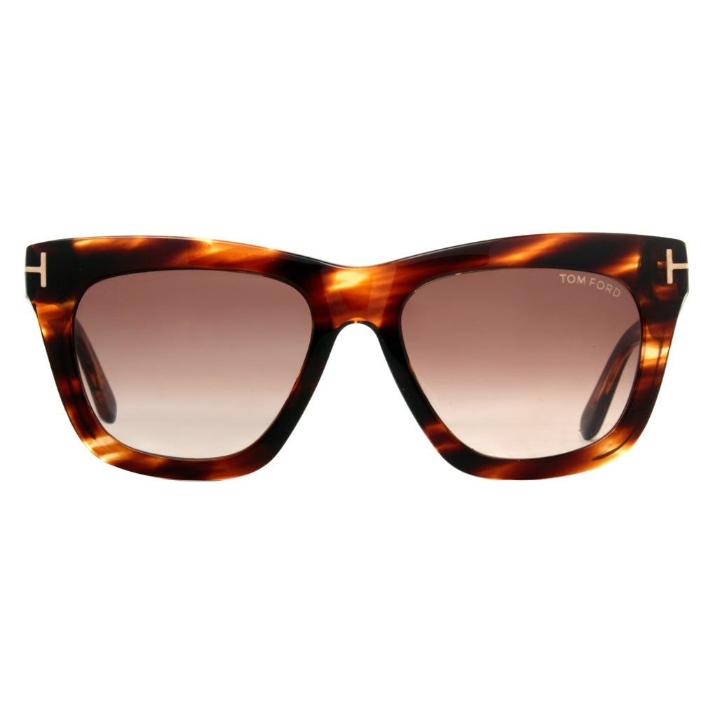 51108e4eb47 Tom Ford Celina TF361 50F Dark Havana Brown Gradient Women s Square  Sunglasses - dark havana brown - 55mm-18mm-140mm