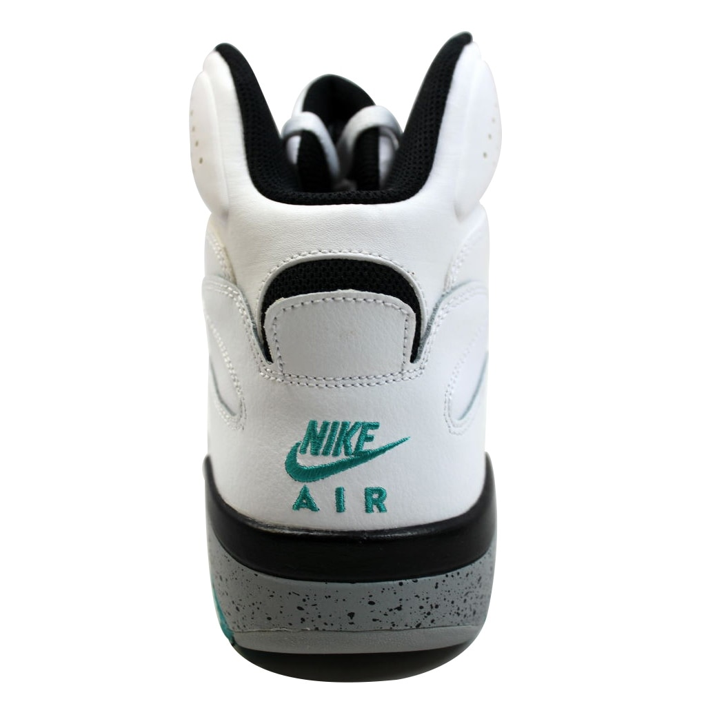 303ca72565 Shop Nike Men's Air Force 180 Mid White/Black-Wolf Grey-Blue Emerald 537330- 100 - Free Shipping Today - Overstock - 19576594