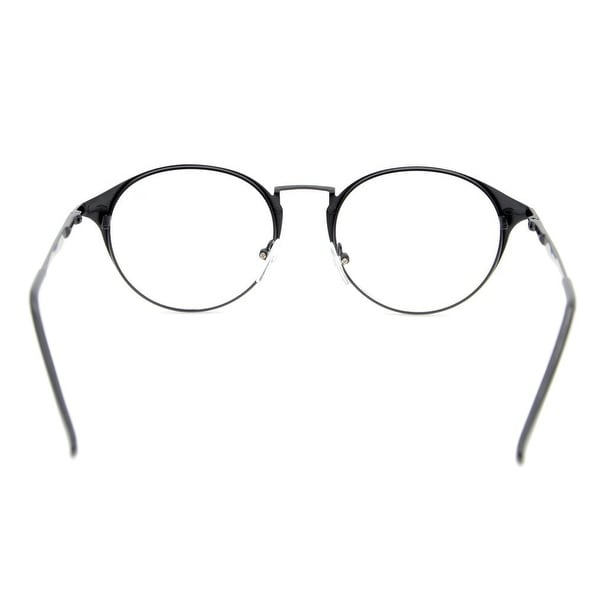 45a911a8eff Shop Eyekepper Spring Hinges Retro Round Eyeglasses Black+0.5 - Free  Shipping On Orders Over  45 - Overstock.com - 16021034