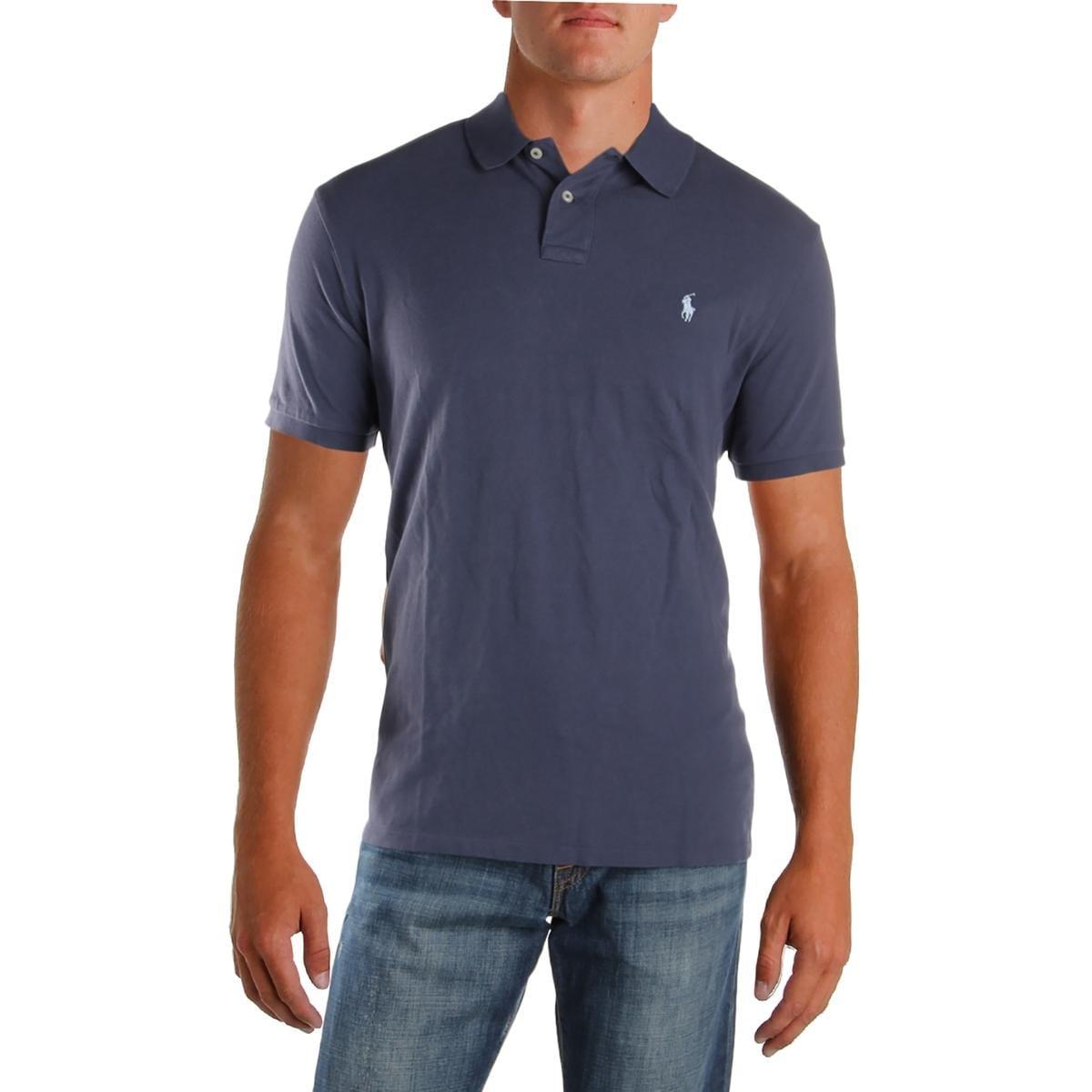 Shop Polo Ralph Lauren Mens Polo Shirt Textured Slim Fit Free