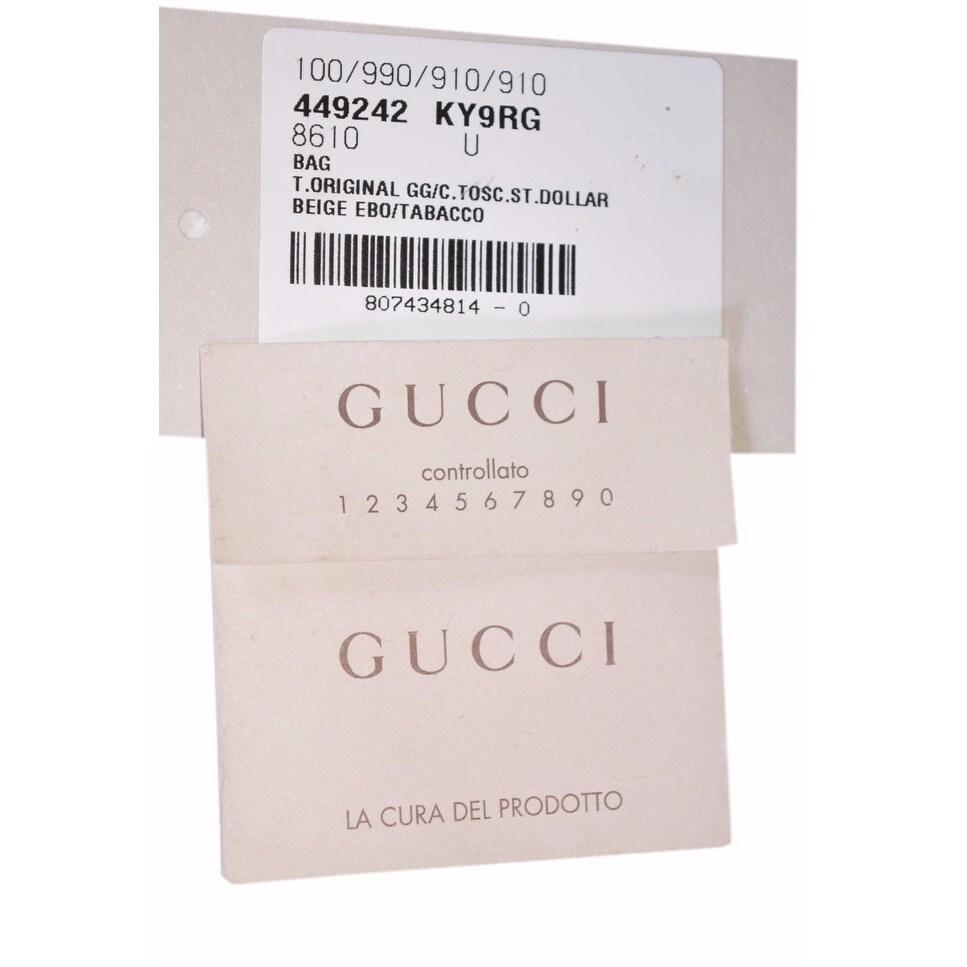 6f0e71c7d4f9 Shop Gucci Women's 449242 Beige Brown Large Bree GG Guccissima Purse  Handbag Tote - Beige/Brown - 18