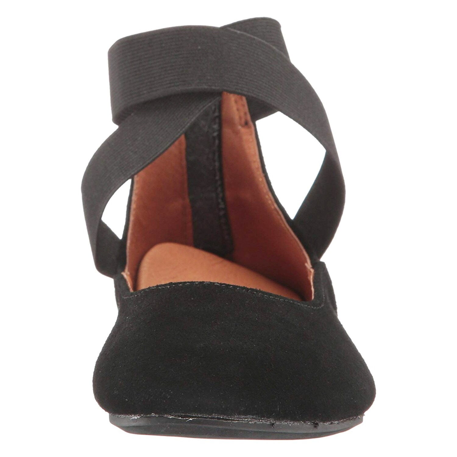 1c0fa9e5b8e9 Shop Women s Arabesque Strappy Ballet Flats - Zip Back - Suede - On Sale -  Free Shipping Today - Overstock - 15950255