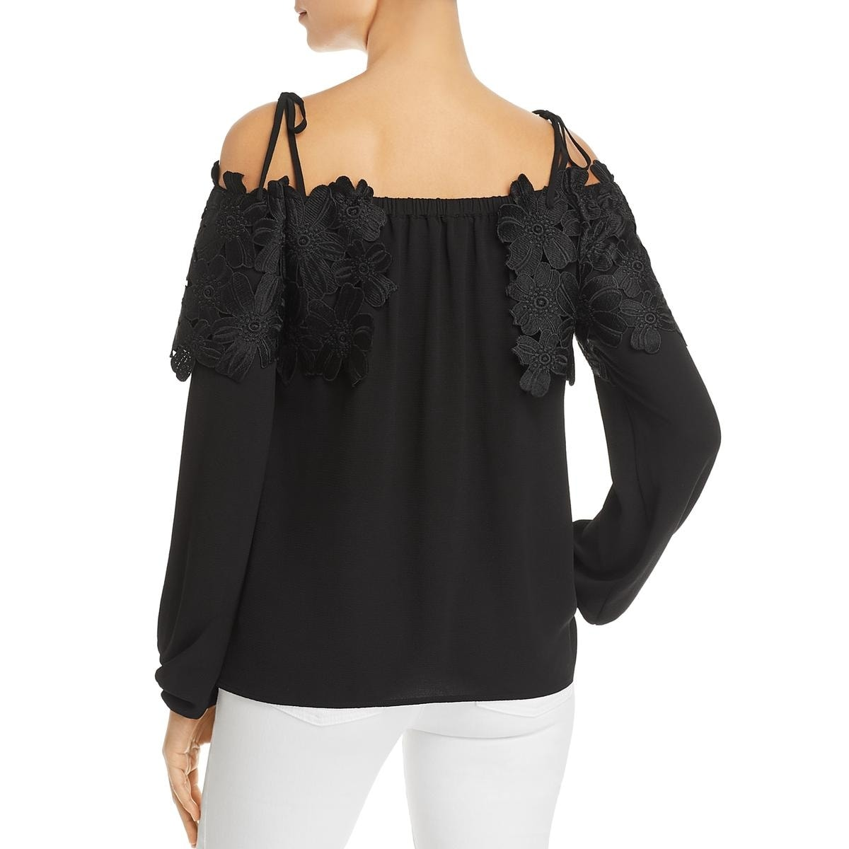 f4c95231ae7d22 Shop MICHAEL Michael Kors Womens Dress Top Cold Shoulder Long Sleeves -  Free Shipping On Orders Over $45 - Overstock.com - 23614932