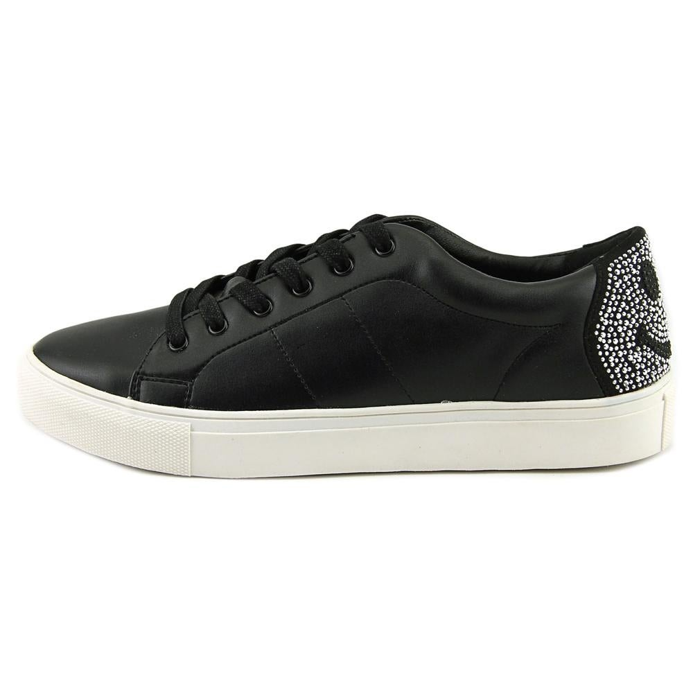 a4defc9bd43 Shop Steve Madden Smiley Women Leather Black Fashion Sneakers - Free  Shipping On Orders Over  45 - Overstock - 19214790