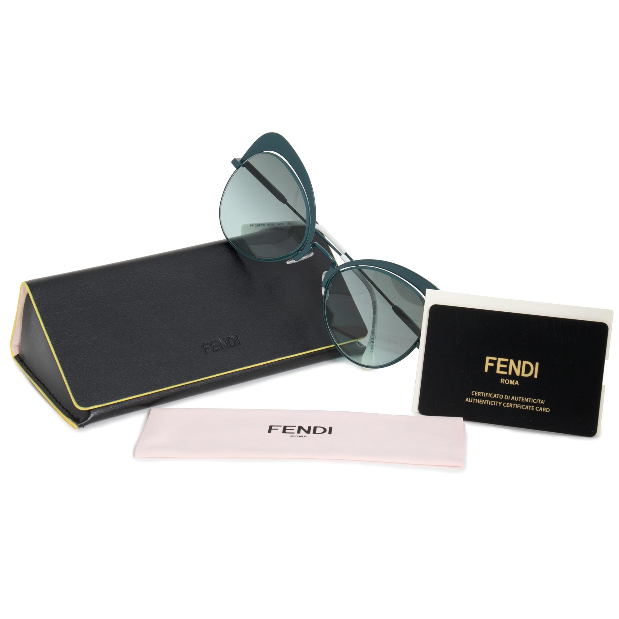 0e720dc36b3 Shop Fendi Eyeshine Butterfly Sunglasses FF0247S 1ED EQ 54 - Free Shipping  Today - Overstock - 19622469