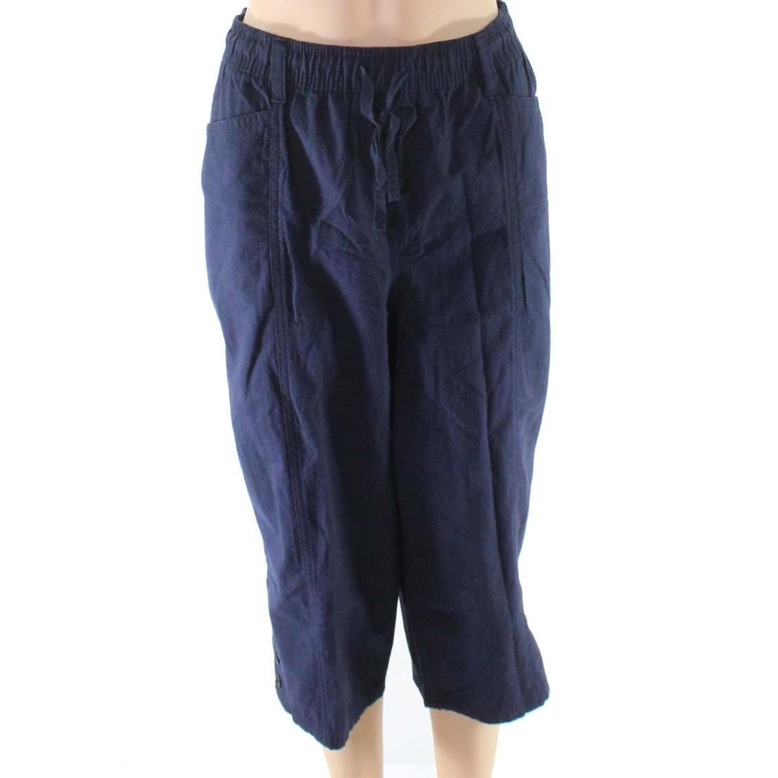 fd4f224c6fa Shop erika blue women size large cargo drawstring capris stretch pants free  shipping on orders over