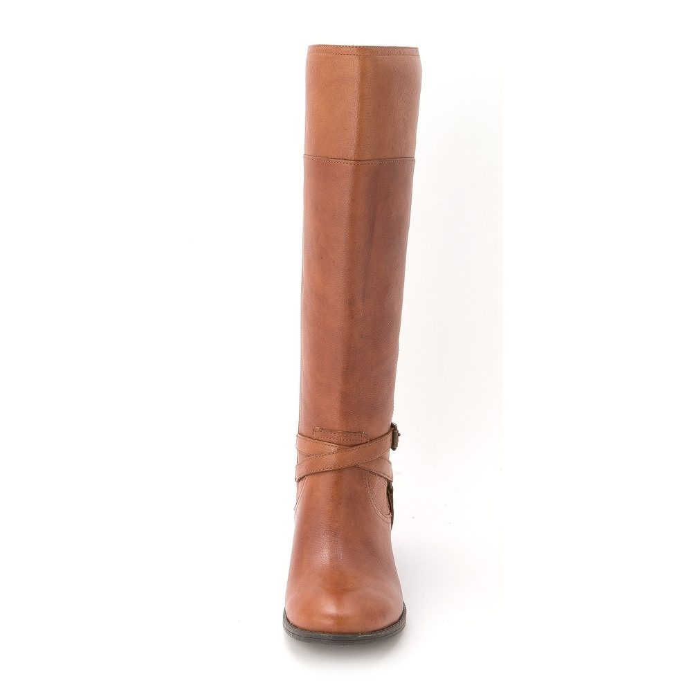 e0cf74fc94479 Shop Marc Fisher Womens ALEXIS Leather Closed Toe Mid-Calf Riding Boots -  Free Shipping On Orders Over $45 - Overstock.com - 14525098