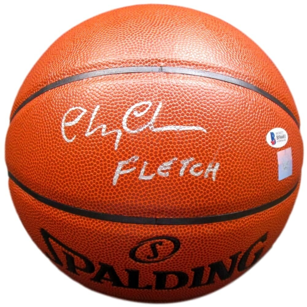 ceb5874033a8 Shop Chevy Chase Signed Spalding Basketball Inscribed Fletch Beckett ...
