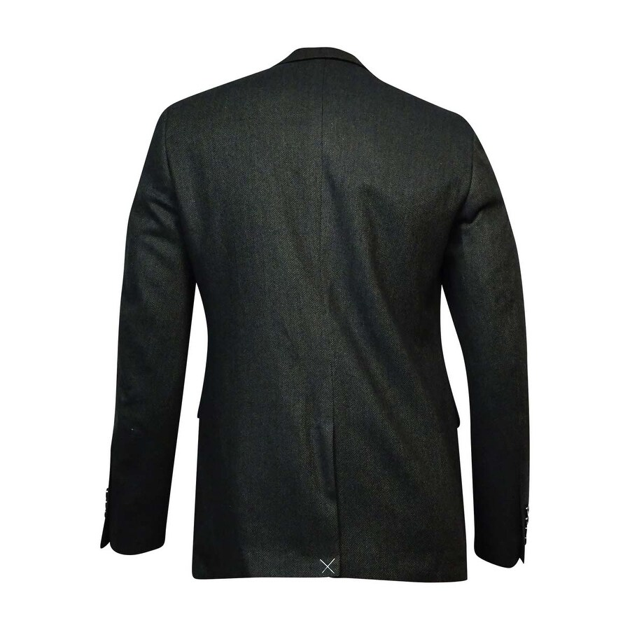 Bar III Men's Herringbone Slim-Fit Sports Jacket (Olive Black, 40L ...