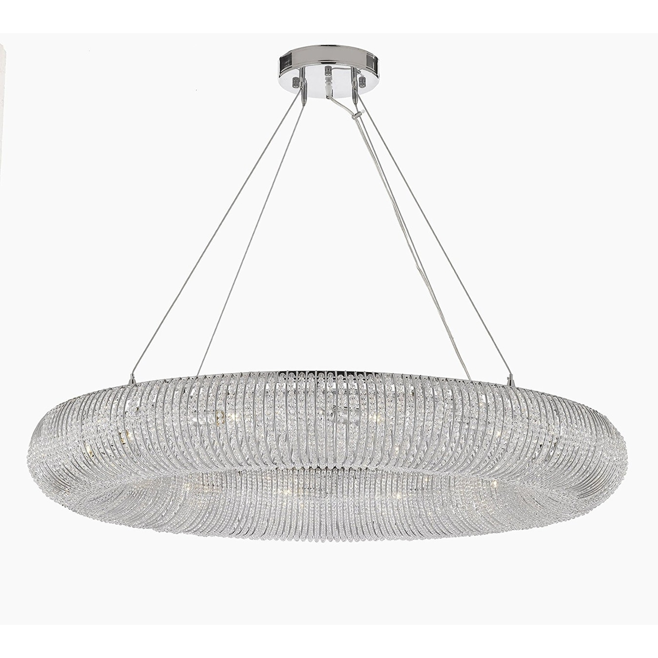 Gallery lighting halo crystal polished chrome finish 41 inch gallery lighting halo crystal polished chrome finish 41 inch floating orb chandelier free shipping today overstock 19615236 arubaitofo Gallery