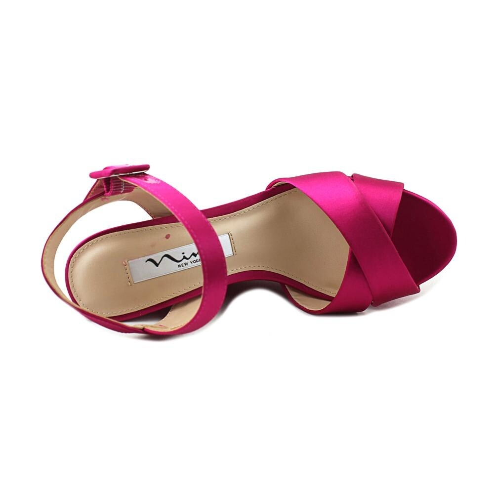 0c954df992 Shop Nina Jinjer Women Open Toe Canvas Pink Wedge Sandal - Free Shipping  Today - Overstock - 19668637