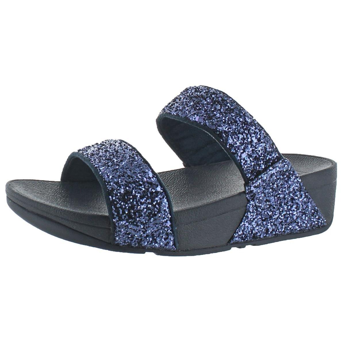 2916b95db Shop Fitflop Womens Glitterball Slide Slide Sandals Nubuck Slip On - 6  Medium (B