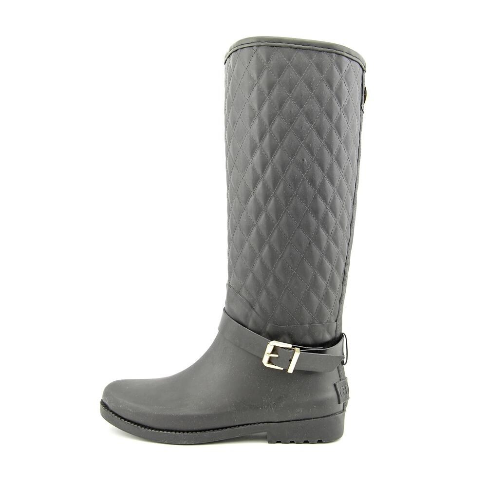 Shop Guess Lulue Women Round Toe Synthetic Black Rain Boot - Free ... f26196adb80c6