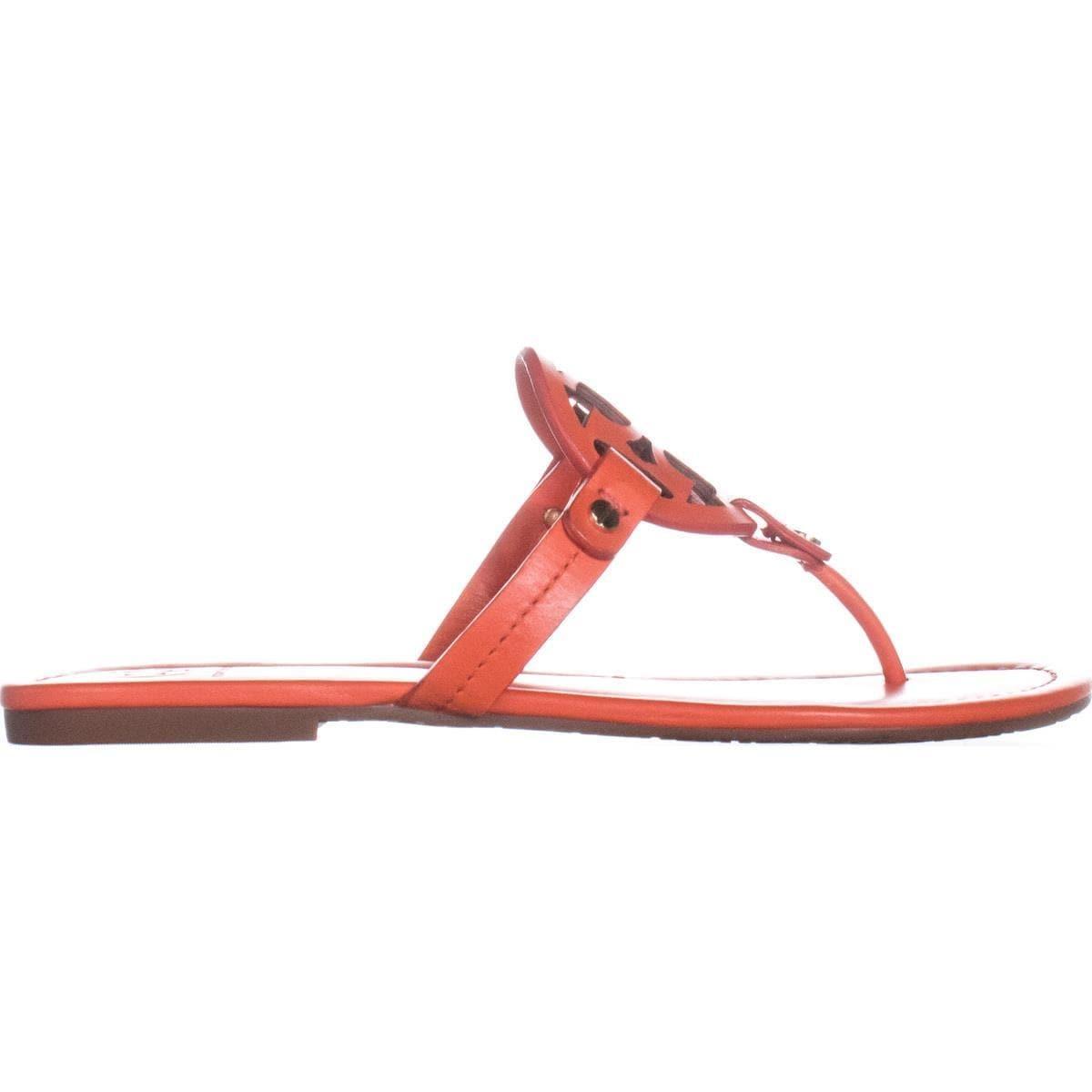 72b86def1a1023 Shop Tory Burch Miller Logo Flat Sandals