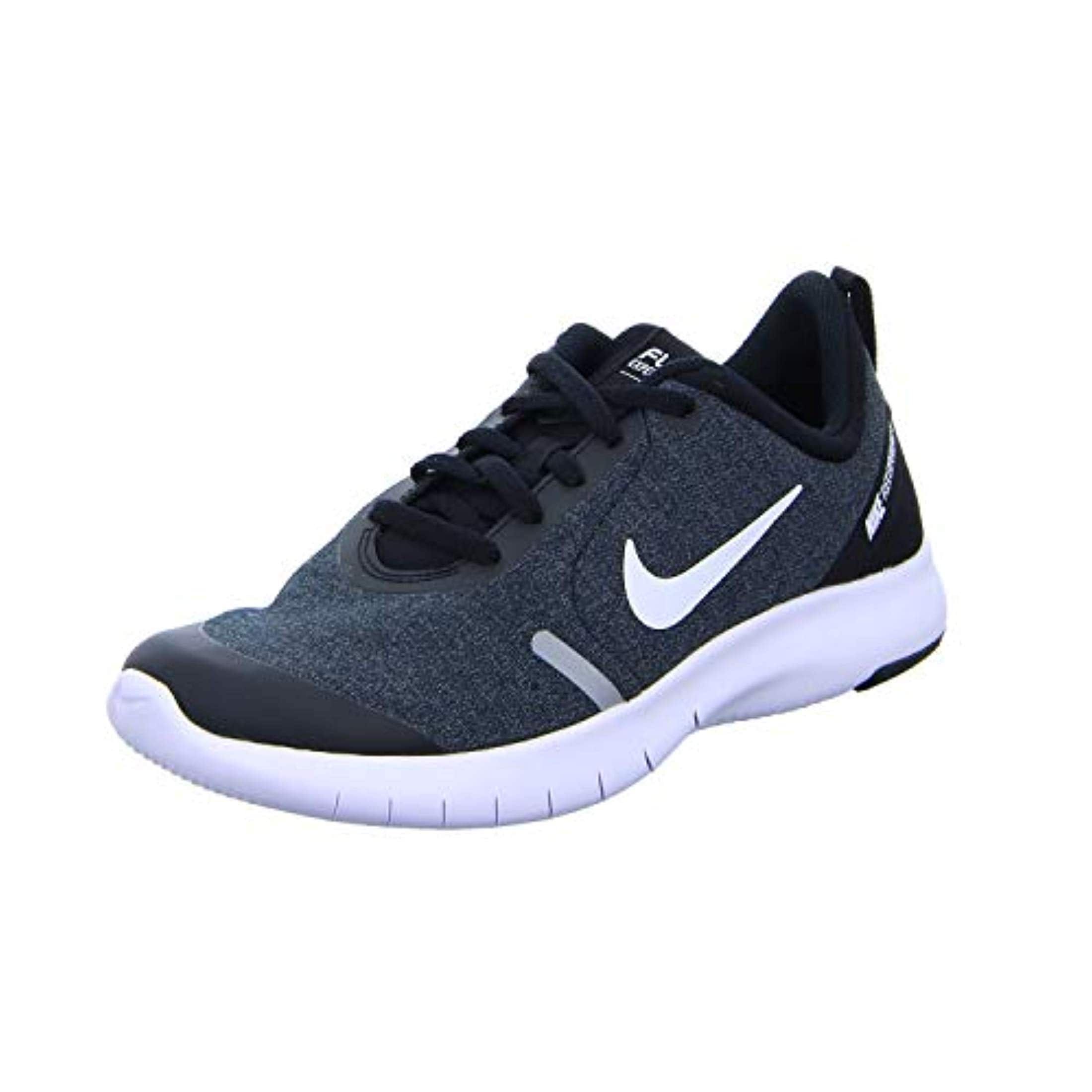 new arrivals ef92f 28ab5 Shop Nike Boy s Flex Experience Rn 8 Running Shoe Black White Cool  Grey Reflect Silver - Free Shipping Today - Overstock - 27126034