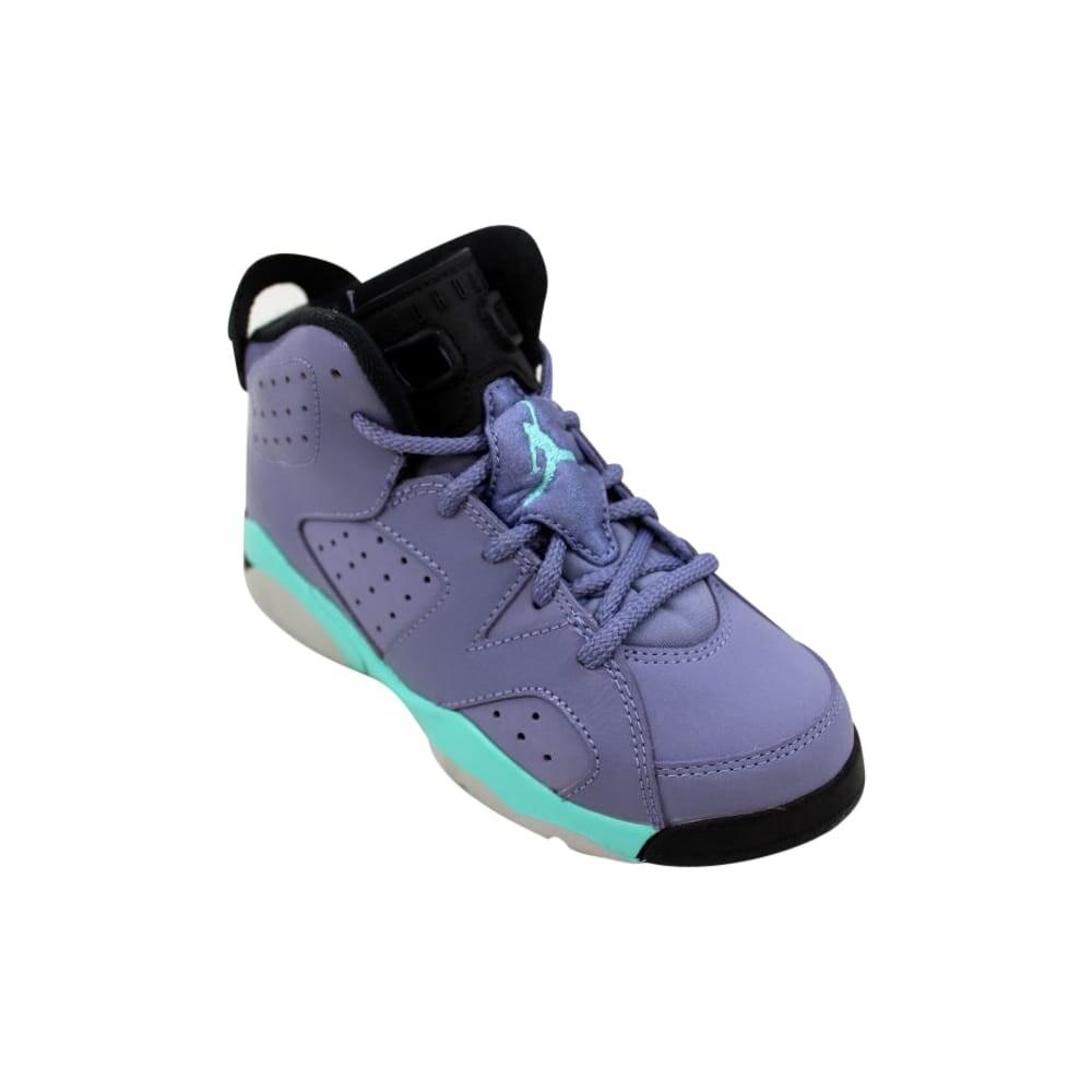 a9e715a7598f9b Shop Nike Air Jordan VI 6 Retro GP Iron Purple Bleached Turquoise-Black  543389-508 Pre-School - Free Shipping Today - Overstock - 27877002