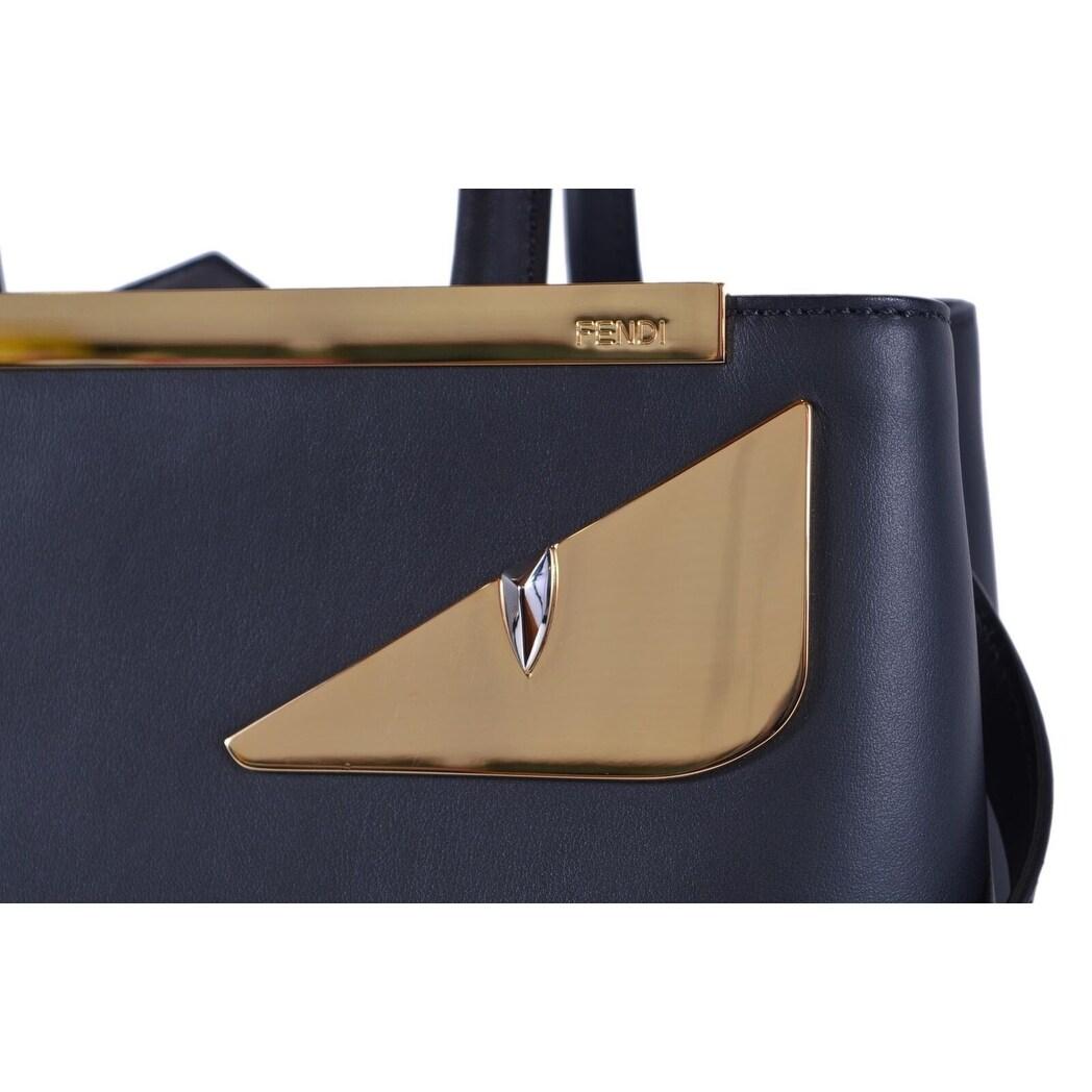c5a93d8033 Shop Fendi 8BH253 Black Leather BUG Eyes 2 Jours Crossbody Purse Handbag -  On Sale - Free Shipping Today - Overstock - 26951753