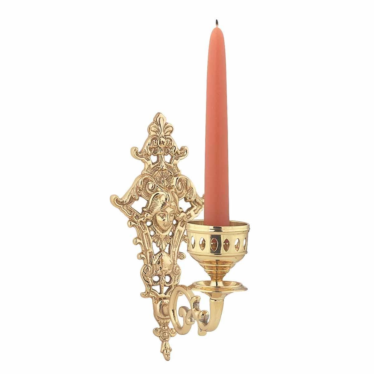 Shop Vintage Brass Wall Sconce Medusa Candle Holder Renovators