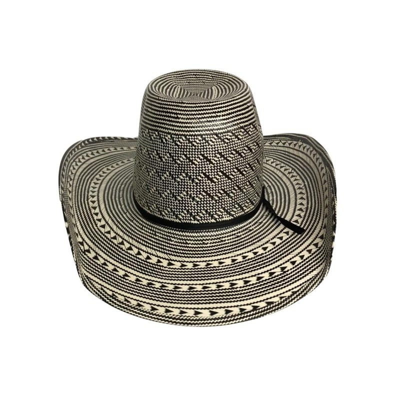 Shop American Cowboy Hat Mens Straw Cool Hand Luke Black White - Free  Shipping Today - Overstock - 20222485 b4e23f38dbe8