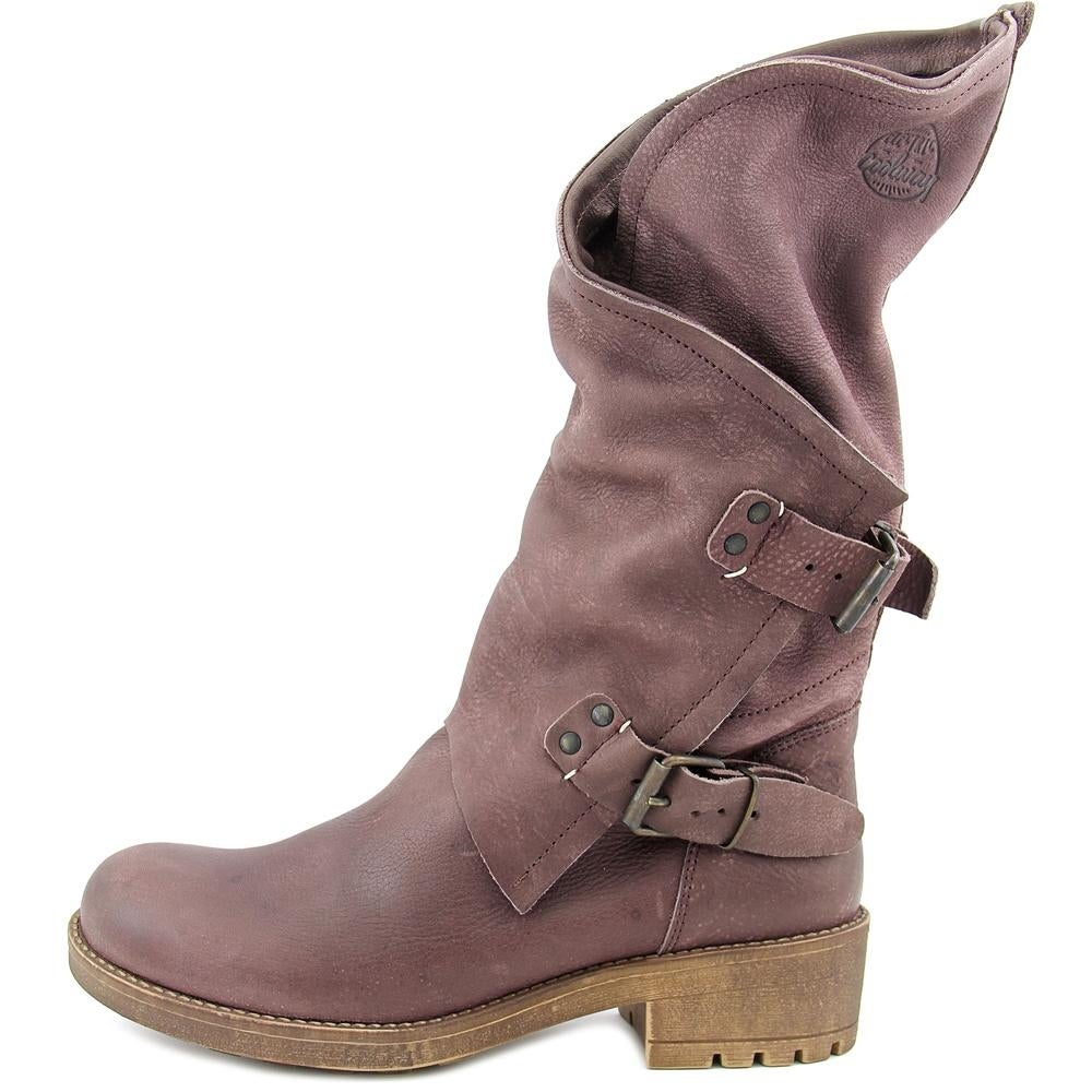 c7d109cbbfe Coolway Alida Women Round Toe Leather Mid Calf Boot
