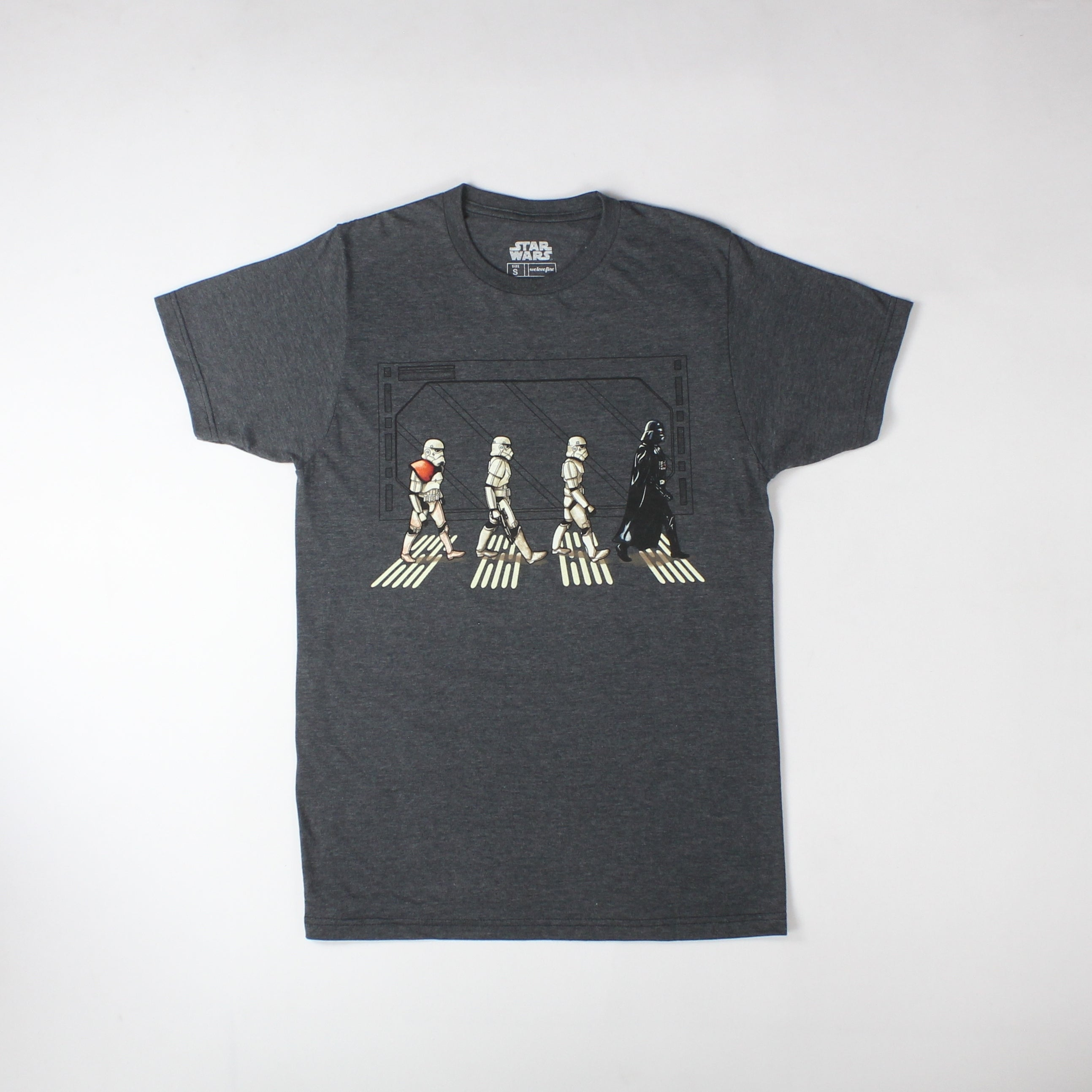 0e73ad75a5e Shop Star Wars Darth Vader And Stormtroopers Walking Abbey Road Men s Black  T-shirt - Free Shipping On Orders Over  45 - Overstock - 17750255