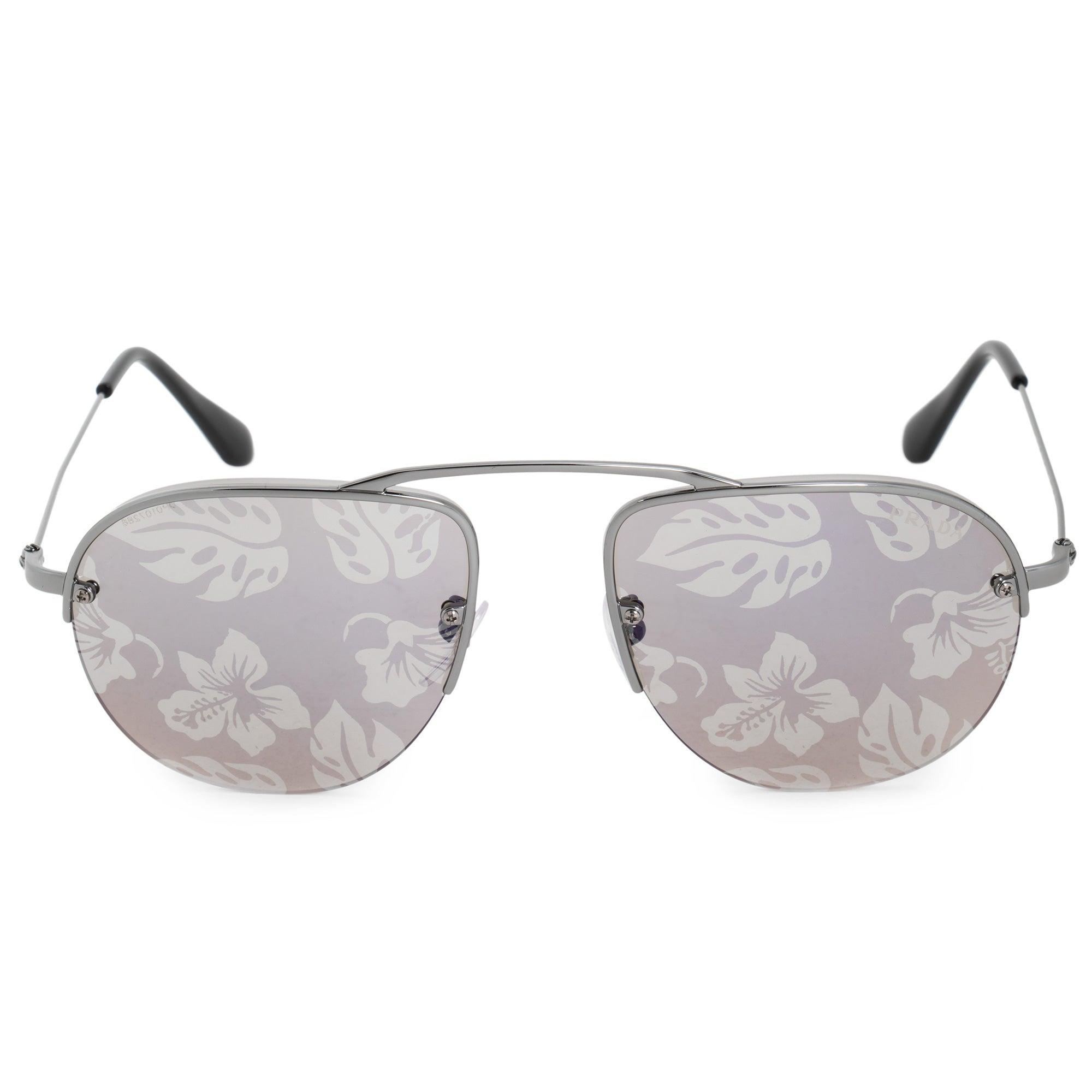 88ab980f711 Shop Prada Teddy Pilot Sunglasses PR58OS 5AV6R0 55 - Free Shipping ...