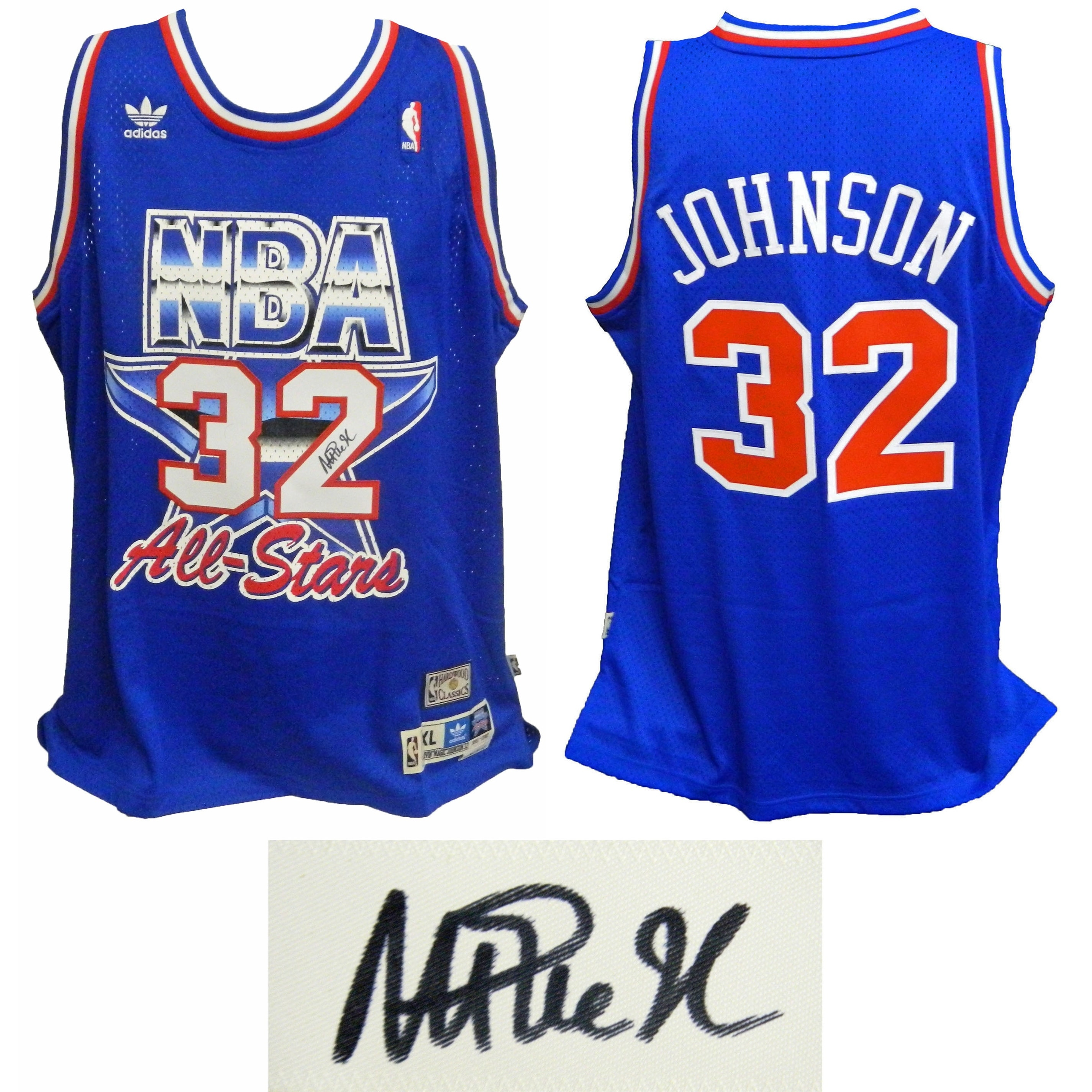 af972562d germany shop magic johnson western conference 1992 all star game official  adidas blue swingman jersey free